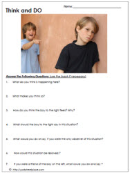 FREE Online Anti-Bullying Printables~  These resources describe four types of bullying, differentiate between bullying and conflict, and provide scenarios for group discussion.  Great resource for weekly class meetings!