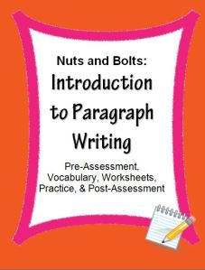"""Paragraph Writing Introduction: Skill Sheets~ Fun, ready-to-use worksheets introduce an easy, step-by-step process for writing clear, logical paragraphs. This organized approach works, even for students who claim they """"hate writing."""" Companion PowerPoint product also available."""