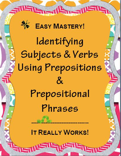 Identifying Subjects & Verbs~ These handouts, printables, and ...