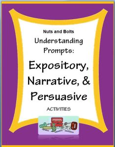"""Understanding Prompts: Expository, Narrative, & Persuasive~ Fun, easy, and ready-to-use activities! Students learn key words and are able to understand what type of writing is expected. This makes every phase of writing easier and more focused. When students """"get it"""" they lose their fear and are eager to write! Companion PowerPoint product also available."""