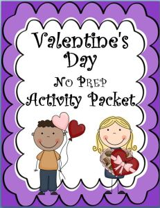 Valentine's Day Activities Packet~ NO PREP! Print and go! These fun activities build language arts skills and keep kids busy!