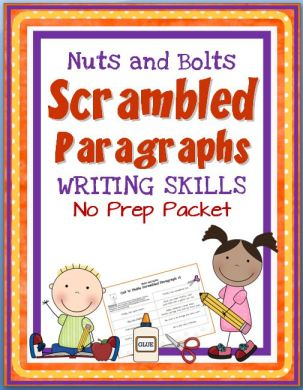 Writing Mini-Unit~ Students use a structured template, as well as transition and inference clues to practice creating logical, organized paragraphs. Students unscramble and then cut-and-paste eight-sentence paragraphs that can only be reconstructed one, best way. These no-prep printables help students practice creating logical, organized paragraphs. Each lesson builds on the last. Fun, easy, and ready-to-go!