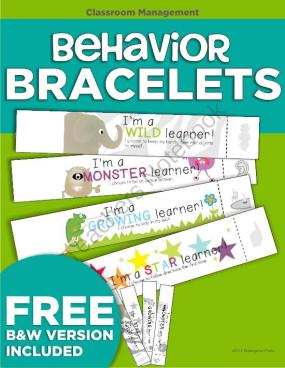 FREE Behavior Bracelets~ Check out this great behavior management freebie, or make your own. The download includes a recipe for an easy lick-and-stick recipe that makes earning these bracelets even cooler. Kids wear them home, and Mom and Dad reinforce their good choices!