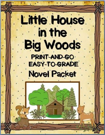 Little House in the Big Woods Novel Packet~ Easy to Grade! Print and Go! This ready-to-use packet contains vocabulary, worksheets, quizzes, and discussion questions, as well as may extras including, a writing graphic organizer, coloring page, and word search. The materials are designed for busy teachers. These versatile printables can be used by students who are reading the book independently, book groups, as part of a social studies unit, or during whole-class, integrated reading instruction.